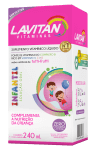 Lavitan Kids Oral Solution tutti-frutti flavor.
