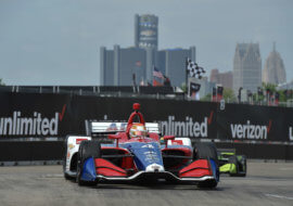 Pit-stop strategies prevents Matheus Leist's top-10 at Indy in Detroit